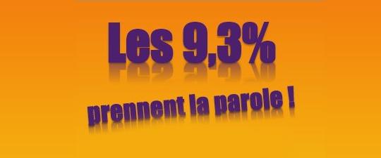 """""""Les 9,3% prennent la parole"""", Le vendredi 2 mars 2012"""