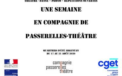 Une semaine en compagnie de Passerelles-Théâtre Quartiers d'été Argentan